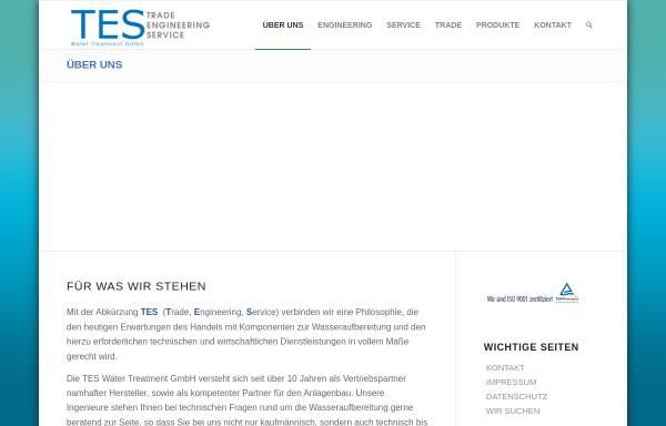Vorschau von www.tes-water.de, TES Water Treatment GmbH
