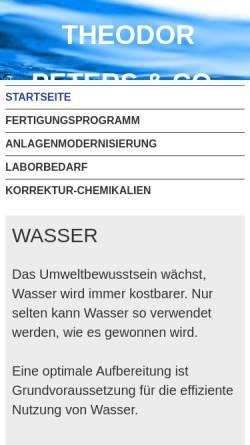 Vorschau der mobilen Webseite www.tpa.de, TPA Theodor Peters & Co.