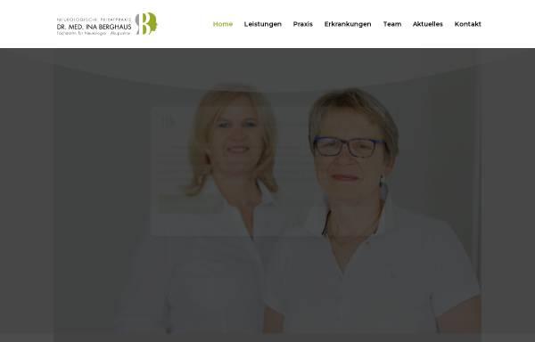 Vorschau von neurologe-frankfurt.de, Berghaus, Dr. med. Ina