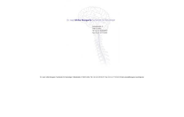 Vorschau von www.bongartz-neurologie.de, Bongartz, Dr. med. Ulrike
