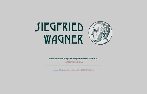 Vorschau von www.siegfried-wagner.org, Internationale Siegfried Wagner Gesellschaft e.V.