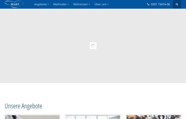 Vorschau von www.ma-t.de, MA&T Organisationsentwicklung GmbH