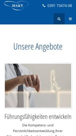 Vorschau der mobilen Webseite www.ma-t.de, MA&T Organisationsentwicklung GmbH