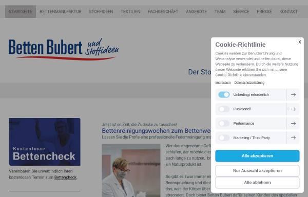 Vorschau von www.betten-bubert.de, Betten Bubert