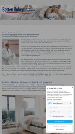 Vorschau der mobilen Webseite www.betten-bubert.de, Betten Bubert