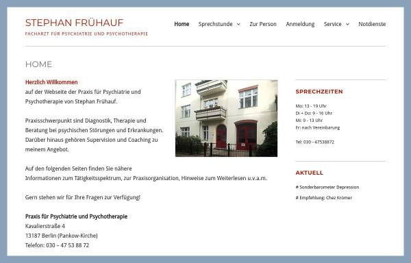 Vorschau von www.praxis-fruehauf.net, Frühauf, Stephan