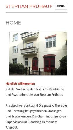 Vorschau der mobilen Webseite www.praxis-fruehauf.net, Frühauf, Stephan