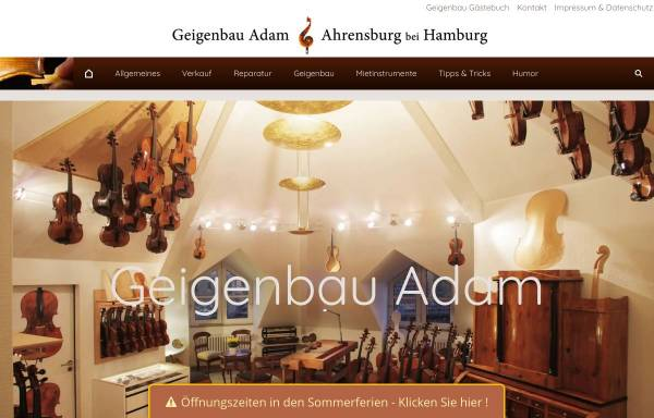Vorschau von www.geigenbau.com, Geigenbau Adam, Christian Adam