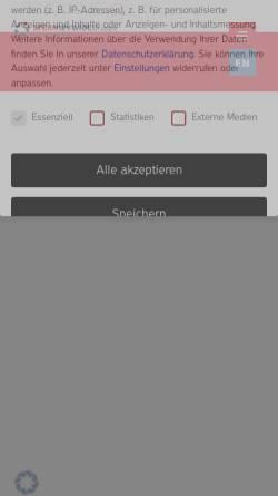 Vorschau der mobilen Webseite www.muehlenchemie.de, Mühlenchemie GmbH & Co. KG