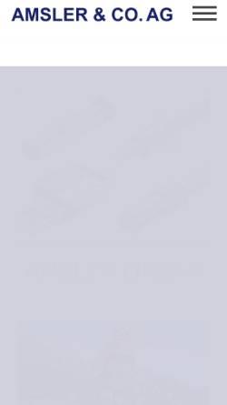 Vorschau der mobilen Webseite www.kymco.ch, Amsler & CO. AG/Kymco Schweiz