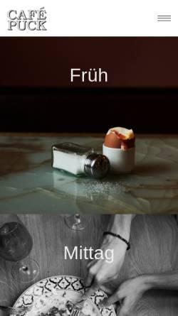 Vorschau der mobilen Webseite www.cafepuck.de, Cafe Puck