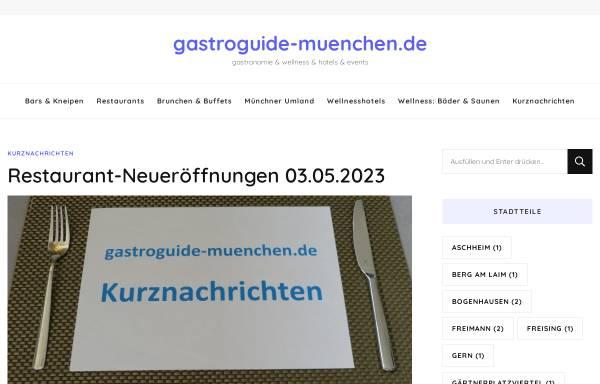 Vorschau von www.gastroguide-muenchen.de, Gastro Guide München
