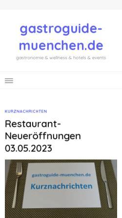 Vorschau der mobilen Webseite www.gastroguide-muenchen.de, Gastro Guide München