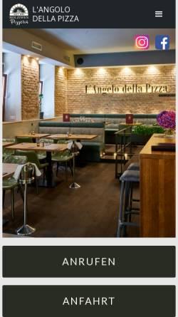 Vorschau der mobilen Webseite www.langolo-della-pizza.de, L'Angolo della Pizza