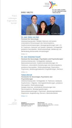 Vorschau der mobilen Webseite www.nervenarzt-saarbruecken.de, Hutschenreuter, Dr. med. Dipl. psych. Ulrich, Dr. med. Georg Domanowsky und Pia Steuer