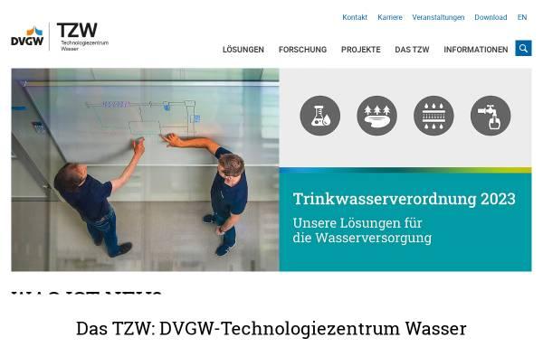 Vorschau von tzw.de, DVGW Technologiezentrum Wasser (TZW)