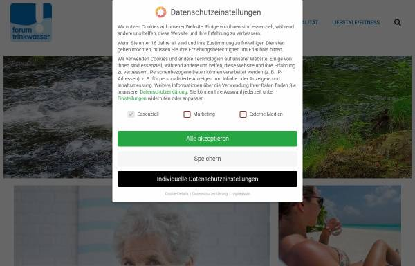 Vorschau von www.forum-trinkwasser.de, Forum-Trinkwasser