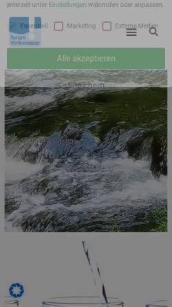 Vorschau der mobilen Webseite www.forum-trinkwasser.de, Forum-Trinkwasser