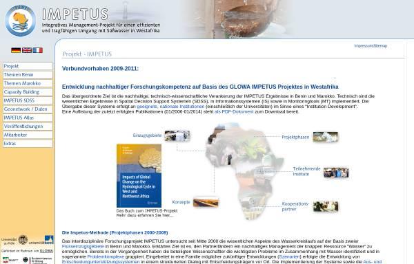 Vorschau von www.impetus.uni-koeln.de, IMPETUS Westafrika