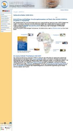 Vorschau der mobilen Webseite www.impetus.uni-koeln.de, IMPETUS Westafrika