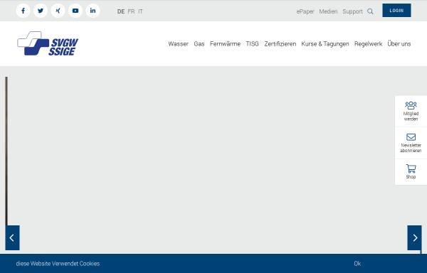Vorschau von www.svgw.ch, Schweizerischer Verein des Gas- und Wasserfaches (SVGW)