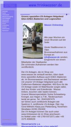Vorschau der mobilen Webseite www.trinkwasser.de, Trinkwasser.de
