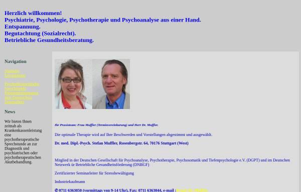Vorschau von www.doc4psych.de, Muffler, Dr. med. Dipl.-Psych. Stefan