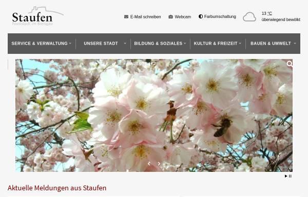 Vorschau von www.stadt-staufen.de, Staufen im Breisgau