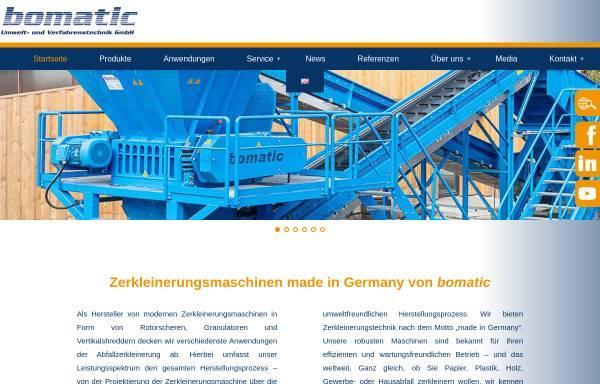 Vorschau von www.bomatic.de, Bomatic Umwelt- und Verfahrenstechnik GmbH