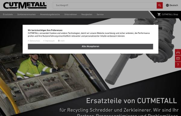 Vorschau von www.cutmetall.de, CutMetall Komponenten GmbH