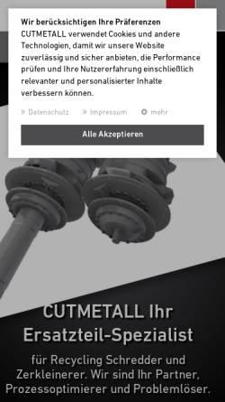 Vorschau der mobilen Webseite www.cutmetall.de, CutMetall Komponenten GmbH
