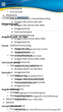 Vorschau der mobilen Webseite www.desbatec.com, DesbaTec Anlagentechnik GmbH
