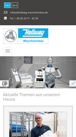 Vorschau der mobilen Webseite www.hellweg-granulators.com, Hellweg Granulators