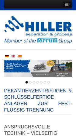 Vorschau der mobilen Webseite www.hillerzentri.de, Hiller GmbH