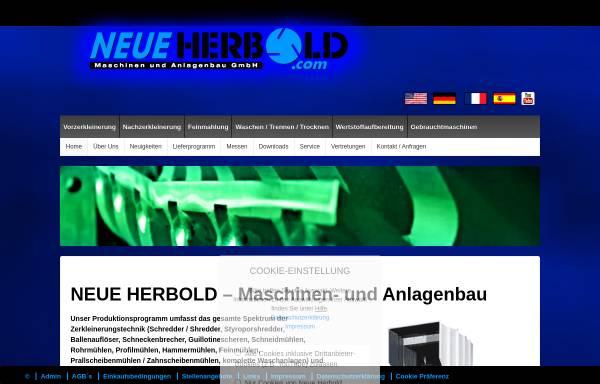 Vorschau von neue-herbold.com, Neue Herbold Maschinen und Anlagenbau GmbH