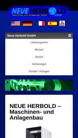 Vorschau der mobilen Webseite neue-herbold.com, Neue Herbold Maschinen und Anlagenbau GmbH