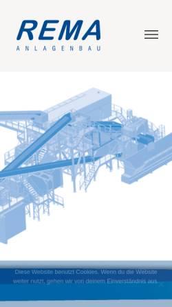 Vorschau der mobilen Webseite www.rema-anlagenbau.de, REMA Anlagenbau GmbH
