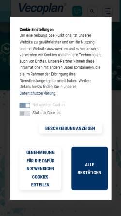 Vorschau der mobilen Webseite www.vecoplan.de, Vecoplan AG