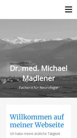 Vorschau der mobilen Webseite dr-madlener.de, Praxisgemeinschaft Dres. Madlener