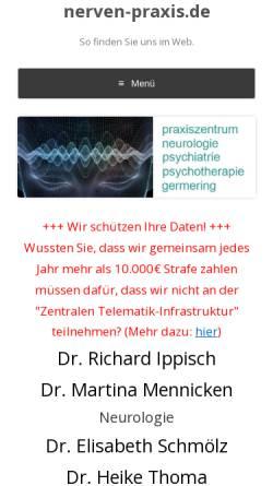 Vorschau der mobilen Webseite www.neurologie-psychiatrie-praxis.de, Praxiszentrum Neurologie, Psychiatrie und Psychotherapie