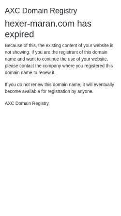 Vorschau der mobilen Webseite www.hexer-maran.com, Maran