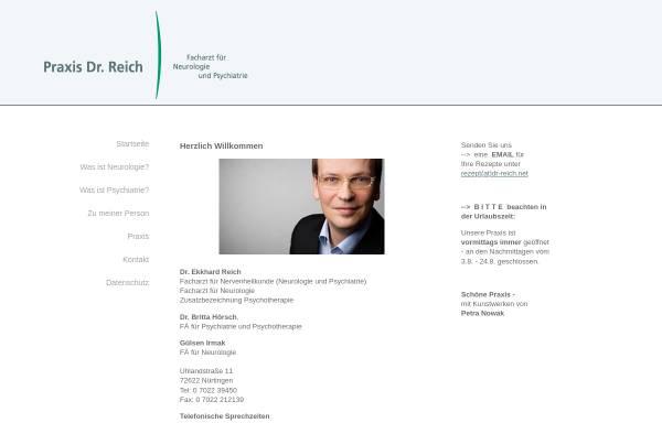 Vorschau von www.dr-reich.net, Reich, Dr. med. Ekkhard