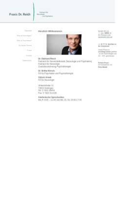 Vorschau der mobilen Webseite www.dr-reich.net, Reich, Dr. med. Ekkhard