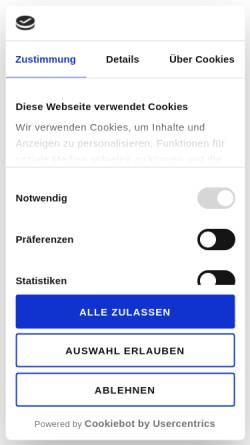 Vorschau der mobilen Webseite www.nerven-bochum.de, Sczesni, Niederhofer, Kauermann, Gemeinschaftspraxis für Neurologie und Psychiatrie