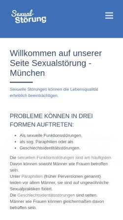 Vorschau der mobilen Webseite www.sexualstoerung-muenchen.de, Sexualstörung München