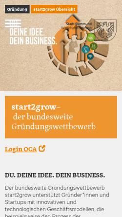 Vorschau der mobilen Webseite www.start2grow.de, start2grow