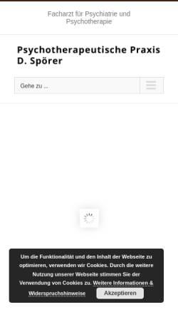 Vorschau der mobilen Webseite www.spoerer-praxis.de, Spoerer, Dieter