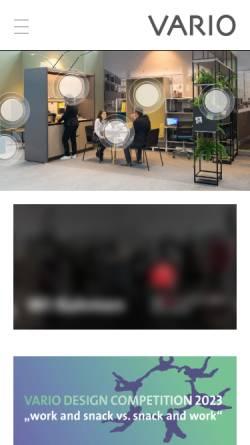 Vorschau der mobilen Webseite www.vario.de, VARIO GmbH - Medienagentur und Graphischer Betrieb