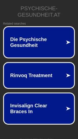 Vorschau der mobilen Webseite www.psychische-gesundheit.at, Wölfl, Dr. med univ. Harald