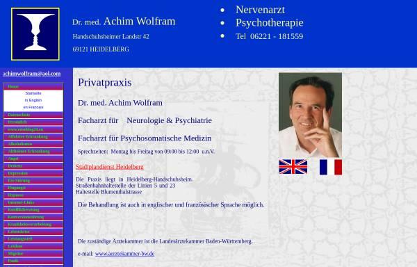 Vorschau von www.nervenarzt-heidelberg.de, Wolfram, Dr. med. Achim